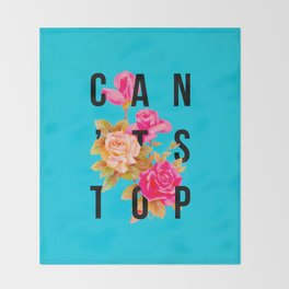 Can't Stop Flower Poster Throw Blanket