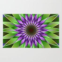 Lavender lotus mandala Rug
