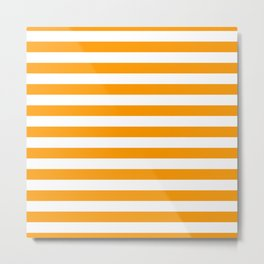 Mango Mojito Beach Hut Horizontal Stripe Fall Fashion Metal Print
