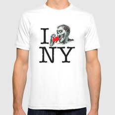 I Zombie Apocalypse New York Mens Fitted Tee MEDIUM White