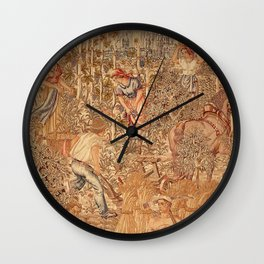 The Allegory of Work landscape by Hans Lohbeck Wall Clock