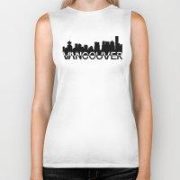 vancouver Biker Tanks featuring Vancouver  by Allison Kiloh