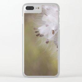 Milkweed Pod Clear iPhone Case