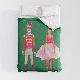 Nutcracker Ballet - Candy Cane Green Comforters