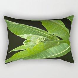Green Milkweed Abstract Rectangular Pillow