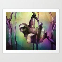 Sloth (Low Poly Multi) Art Print