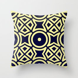 Composition in Texas Yellow and Stratos Blue Throw Pillow