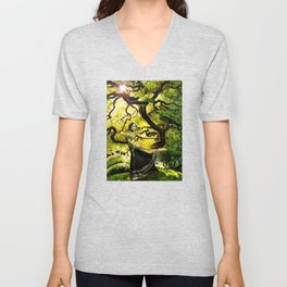Beneath the Bodhi Tree Unisex V-Neck
