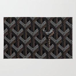 Goyard Black Rug