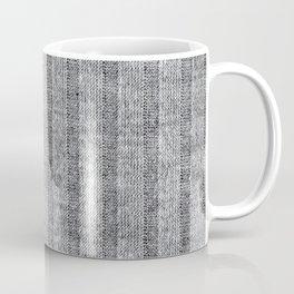 Soft Grey Jersey Knit Pattern Coffee Mug