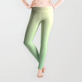 Cream Yellow to Mint Green Linear Gradient Leggings