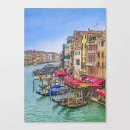 Aerial View Grand Canal of Venice, Italy Canvas Print