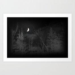 Moon Glowing Art Print