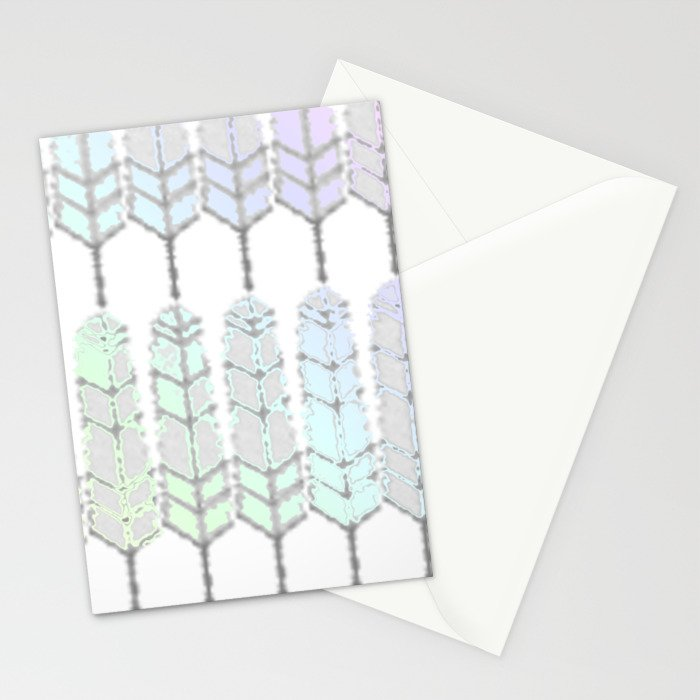 Featherpastelrainbowed Stationery Cards