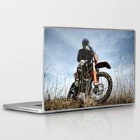 moto Laptop & iPad Skins featuring KTM Moto by Mateusz Strelau