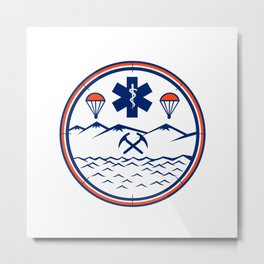 Land Sea Air Rescue Icon Metal Print