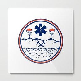 Land Sea Air Rescue Icon Metal Print