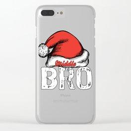 santa bromiddle Clear iPhone Case