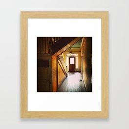 Sunny Hallway Framed Art Print