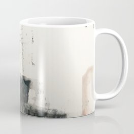 Peace and Quiet [1]: a pretty, minimal abstract piece in gray and peach by Alyssa Hamilton Art Coffee Mug