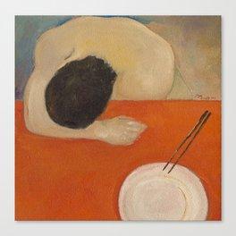 solitude sorrow supper solo Canvas Print