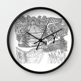 Vermont Round Barn, Waitsfield Vermont Wall Clock
