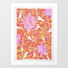Water Lilies – Melon Palette Art Print