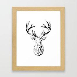 Dot Deer Framed Art Print