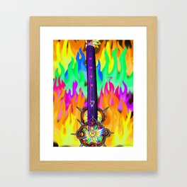 Fusion Keyblade Guitar #196 - Eternal Flame & Nightmare's End Reality Shift Framed Art Print