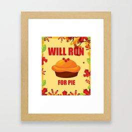 Running T-Shirt Funny Run Tee Gift For Runner Apparel Framed Art Print