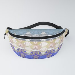 Sweet Lovely Intricate Boho Blues Lace Detail Fanny Pack