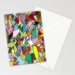 Color Abstract Stationery Cards