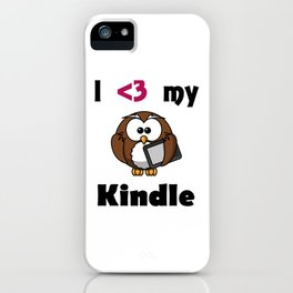 Kindle Love iPhone Case