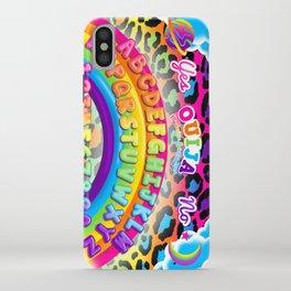1997 Neon Rainbow Ouija Board iPhone Case