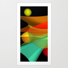 floating colors -a- Art Print