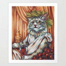 Rudy, God of Wine & Celebration Art Print