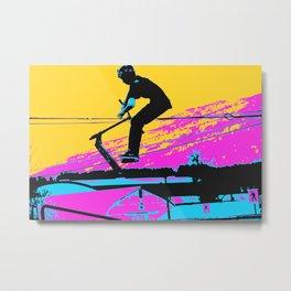 Free Falling - Stunt Scooter Rider Metal Print