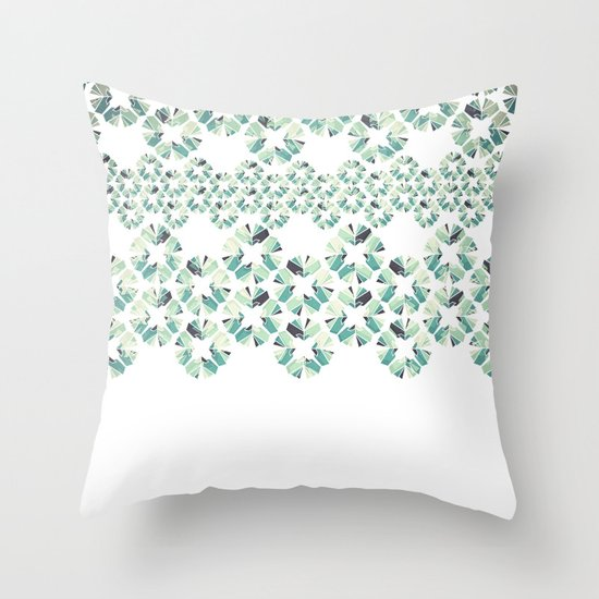 Glass Lace Throw Pillow
