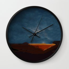 Moonset Wall Clock