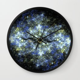 The Starry Sky at Night. Wall Clock