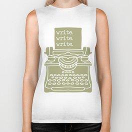 Write. Write. Write. (Green) Biker Tank
