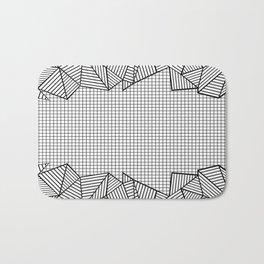 Grids and Stripes Bath Mat
