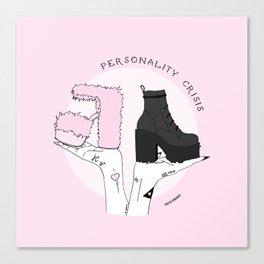 Personality crisis Canvas Print