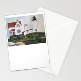 Nubble Lighthouse Watercolor Art Stationery Cards