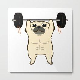 Workout Fu Fu Metal Print