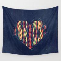 interstellar Wall Tapestries featuring Interstellar Heart by VessDSign