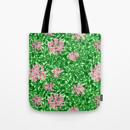 William Morris Honeysuckle, Pink and Emerald Green Tote Bag