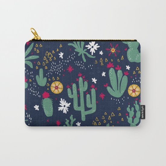 Cactus Blossoms  Carry-All Pouch