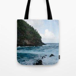 Cliffside Ocean View Tote Bag