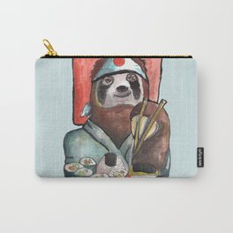sloth eating sushi Carry-All Pouch